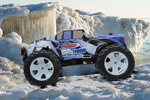Tiger Ice Monstertruck 1:10 4WD NiMh 2,4G LED - Allrad, Elektroantrieb, Akku, 35Kmh, Aluchassis, spritzwasserfest, Öldruckstoßdämpfer, Kugellager, Fahrwerk einstellbar, fahrfertig - 3