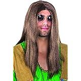 Boland 86369 - Perücke Hippie John, lange, glatte Haare, braun