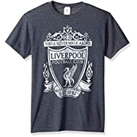 Fifth Sun Official Liverpool FC Mono Color Logo Men's Tee, Gray//as Heather, x-Large