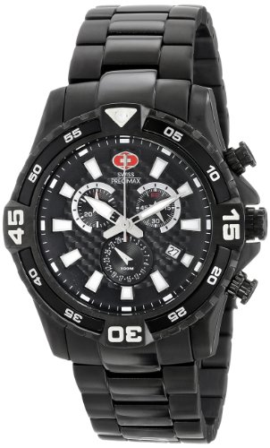 Swiss Precimax Men's SP13107 Falcon Pro Analog Display Swiss Quartz Black Watch