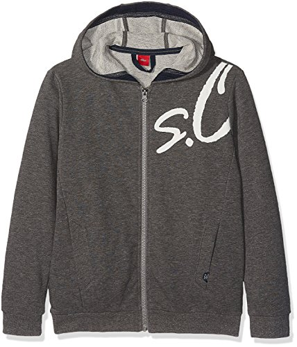 s.Oliver Jungen Sweatshirt 61.708.43.4954, Grau (Grey Melange 9730), 170 (Herstellergröße: XL/REG)
