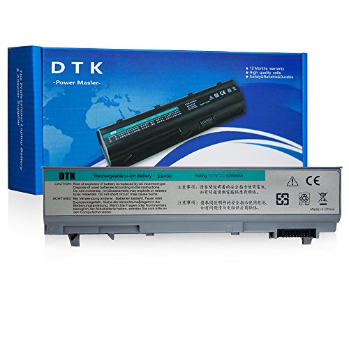 Dtk® Ultra Hochleistung Notebook Laptop Batterie Li-ion Akku für DELL Latitude E6400 E6410 E6500 E6510 precision M2400 M4400 M4500 Notebook Laptop Batterie [11.1V 4400MAH 6CELLS]