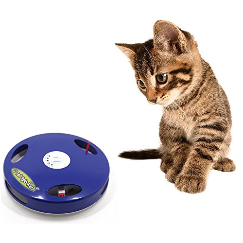 tomill Pet Cat Turntable Funny Cat Bar Schwanz Spin Ratte Maus Schwanz Toys Schwänze Spin