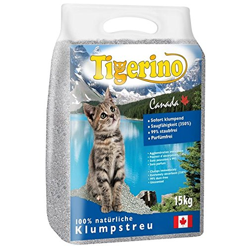 Wangado - NOVITà Lettiera canadese 2 pacchi da 15 kg per gatti al 100% in granulato di argilla naturale: elevato potere agglomerante (350%), alto rendimento e non polverosa. Senza profumo, ideale per gatti sensibili.
