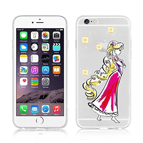 New Disney Prinzessinnen transparent klar TPU Soft Case für Apple iPhone 5/5S, plastik, RAPUNZEL .1, Apple iPhone 5/5S RAPUNZEL .2