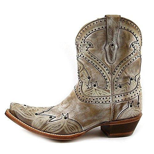 Lucchese Stiefel SARABETH Damen Cowboystiefelette Beige
