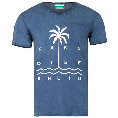 Khujo, Herren T-Shirt TREE, Pacific Blue Pacific Blue