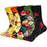 ANVEY 5 Pares Calcetines de Algodón Calcetines con Estampado Divertido para Hombres y Mujeres Cómodos y Transpirables ...