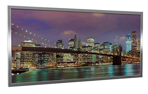 Infrarotheizung Glas mit Bild und Rahmen silber, 600 Watt, Motiv