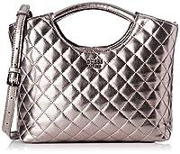 Guess - Miriam, Shoppers y bolsos de hombro Mujer, Plateado (Pewter), 10x26.5x32.5 cm (W x H L) de Guess