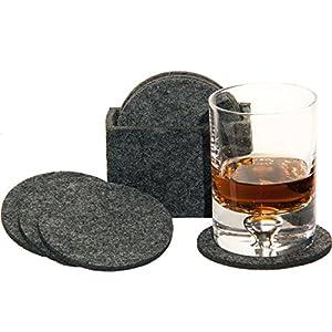 MC-Trend® 9tlg. Set Filz Untersetzer Glas Untersetzer aus Filz für Gläser, Tassen für Ihren Tisch Bar 8er Set in Filzbox…