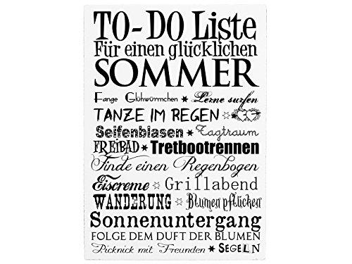 42x30cm Shabby Dekoschild Holzschild TO DO LISTE SOMMER Jahreszeiten Spruch Vintage Geschenk