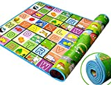 #8: VelKroKrevia Double Sided Water Proof Baby Crawl Play Mat, Set of 1 (Color and Design May Vary) (Size - 120 * 180 cm)