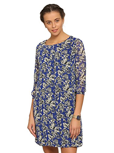 abof Women Blue Floral Print Shift Dress  available at amazon for Rs.323