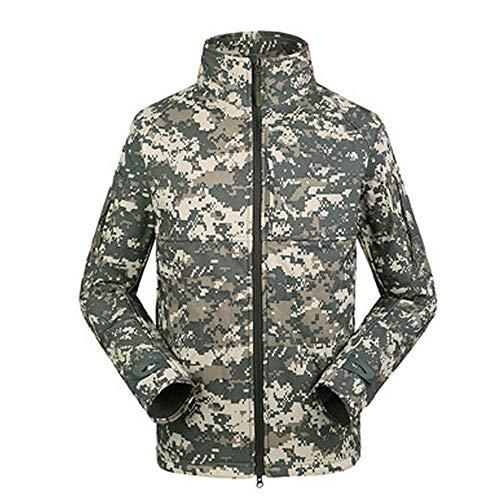QIKAI Taktische Ranger Commander Level Bezeichnung Commander Jacket Jacket Outdoors E-XL Camo Bdu Military Shirt Jacket