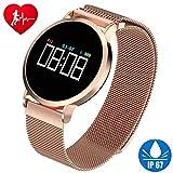 CJZSA Frauen Smart Watch Fitness Tracker HR IP67 Wasserdichtes Armband mit Herzfrequenz Blutdruck Schlaf Monitor Schrittzähler Kalorien Tracker Sport Schwimmen Armband Geburtstagsgeschenke