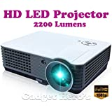 Gadget Hero's RD-801 Full HD Home LED Projector. 1920x1080 Pixels, 2000 Lumens & 60000 Hours LED Life.
