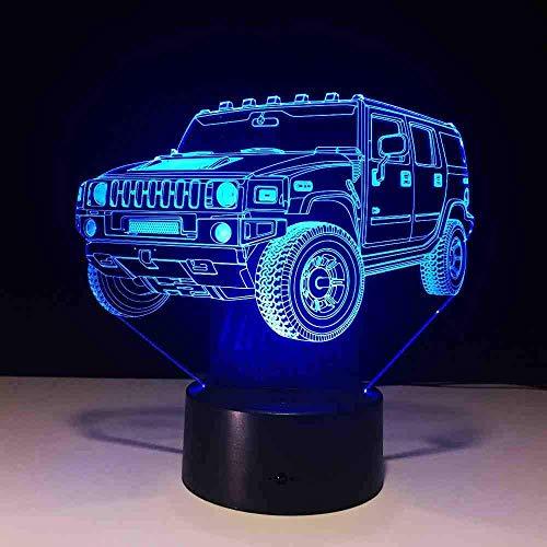 Kühle SUV Auto 3D Nachtlicht 7 Farbe Led Tischlampe Touch Schalter USB Baby Schlaflicht für Freunde Weihnachtsgeschenk Fernbedienung