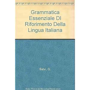 Grammatica essenziale di riferimento della lingua