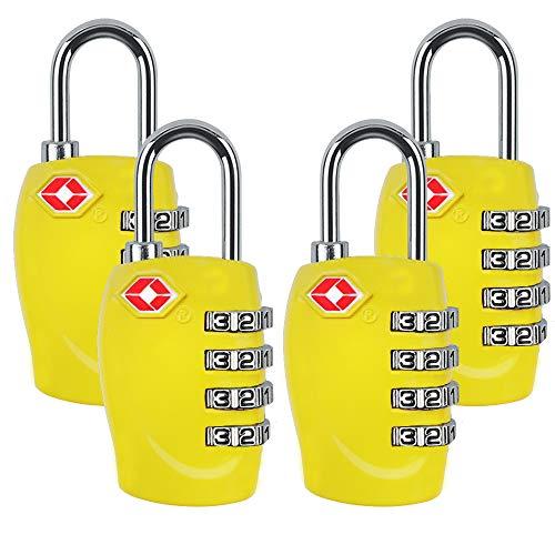 4Dial dígitos TSA Aprobado viaje equipaje Locks combinación para m