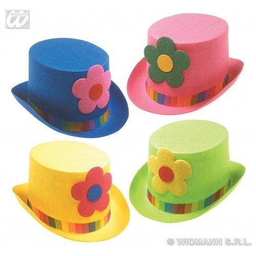 Kopfbedeckung Clown Kostüm - WIDMANN Clown-Top mit Blumen Clownhützen und