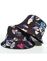 4bfccf641a9 AJON Hip Hop Bucket Boonie Sun Hat Unisex Mens Ladies Reversible Hiphop  Bush Sunhats Foldable Cotton