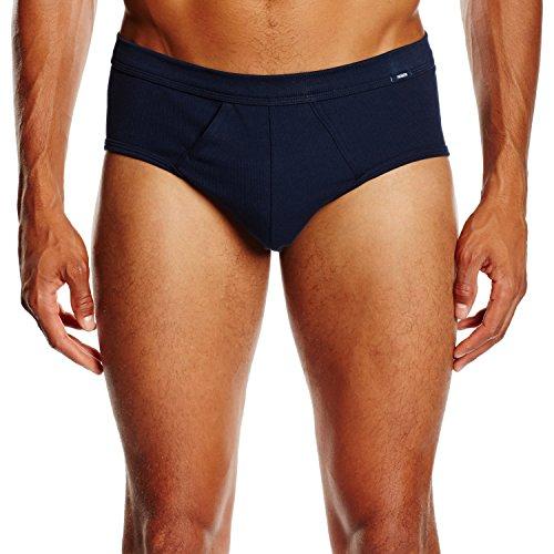 Huber Herren Unterhose Comfort Plus Slip mit Eingriff Blau (DEEP NAVY 7398)