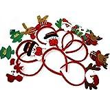 THE TWIDDLERS 8 cerchietti Natalizio per Tutte Le età! - Cerchietto Ottimi per Feste di Natale, Decorazioni, regalini da Festa e Altro Ancora