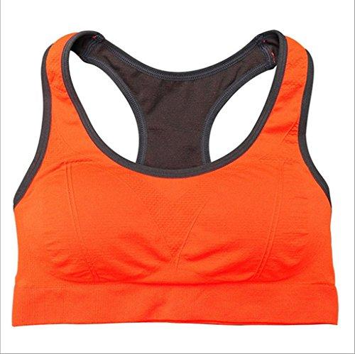 Kitty princess Multicolore Neuf Soutien gorge de sport Femme Vêtements de conditionnement physique de yoga Courir Orange