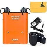 Godox Propac PB960 4500mAh Flash Lithium Batterie Externe Speedlite Canon Nikon Sony Metz (PB960-Orange)