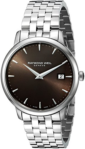 raymond-weil-mens-steel-bracelet-case-swiss-quartz-brown-dial-analog-watch-5488-st-70001