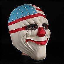SQCOOL Víspera de Todos los Santos Payaso Mask Dress Latex Headset Maquillaje Dance Props Cosplay Funny Toys