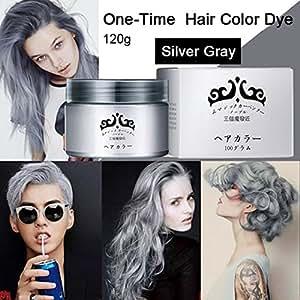 Buy One-Time Temporary Dye Hair Color Cream Gray Hair Colouring ...