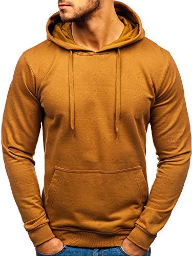 BOLF Herren Kapuzenpullover Hoodie Sweatshirt Basic Sport Style 5361 Braun M [1A1] -