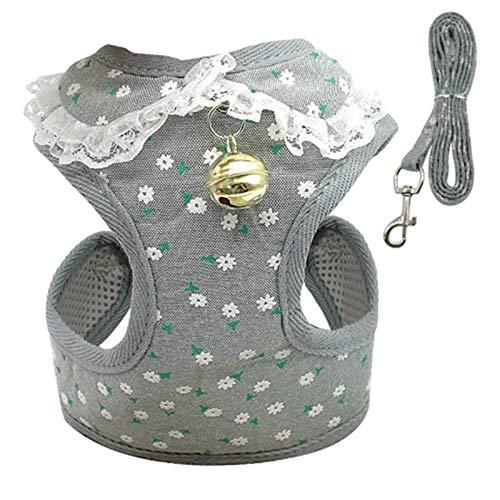Yichener Hundegeschirr für kleine Welpen und Hunde, atmungsaktiv, Nylon, Netzgewebe, für Hunde und Katzen, für Chihuahua Yorkies Mops -