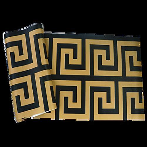 Shaped neue chinesische Tapete klassische Studie TV Hintergrund Wand im chinesischen Stil Tapete wasserdicht 779904 Gold (Burlesque Stil Kostüm)