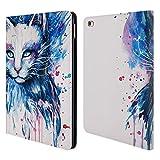 Head Case Designs Offizielle Pixie Cold Raum Katzen Brieftasche Handyhülle aus Leder für iPad Air 2 (2014)