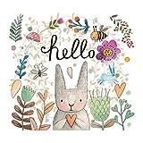 Hechgobuy Die Wand Art Wall-Sum System Style Aufkleber Mädchen Kaninchen Girlanden Schlafzimmer Wall Sticker Aufkleber Schlafzimmer Wand über dem 50 * 40 cm Aufkleber