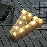 Beleuchtete Buchstaben Nachtlichter Dekoration LED Neon Lampen für Geburtstag Party Hochzeit Kinder Geschenk A-Z (V)