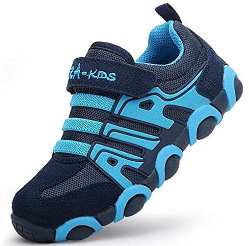 WUIWUIYU Chaussures de Baskets Mixte Enfant Scolaire Chaussures de Running Sport Antidérapant Sneaker Outdoor pour Fille Garcon