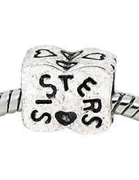 Believe Beads 1 x Sister Charm Bead will fit Pandora/Troll/Chamilia Style Charm Bracelets
