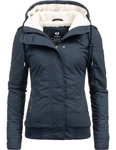 Ragwear Damen Winterjacke Outdoorjacke Ewok Navy Minidots018 Gr. S