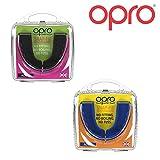 Opro Snap-Fit Sports Mouthguard Jeunesse Unisexe, Noir + Bleu, Enfant