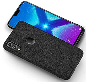 Kapa Soft Fabric Hybrid Protective Back Case Cover for Huawei Honor 8X - Black
