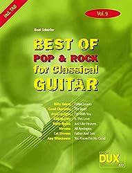 Best Of Pop & Rock for Classical Guitar Vol. 9: Inklusive TAB , Noten, Text und Harmonien