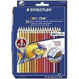 Staedtler 14410ND36 Pack de 36 Crayons de couleur aquarellable Couleurs Assorties + Pinceau
