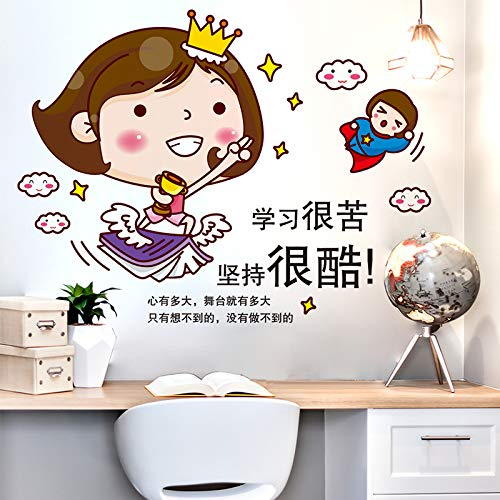 Yirenfeng Mädchen Selbstklebende Inspirierende Wandaufkleber Schlafzimmer Schlafzimmer Schlafsaal Wanddekorationen Aufkleber
