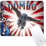 Disney Collection Dumbo Affiche de Film carrée Ronde pour Ordinateur Gaming Tapis de Souris antidérapant pour Bureau, Jeux, Maison
