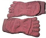 Body-TecTM Fitness calcetines con cinco dedos y suela de goma para Yoga o Pilates