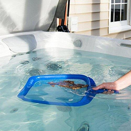 Deluxe Leaf Rake (Schwimmbad-Reinigungs-Tool Profi-Blatt-Rake Mesh-Rahmen Net Skimmer Reiniger Schwimmbad Spa-Tool Neue Reinigung Tool Kit (B))